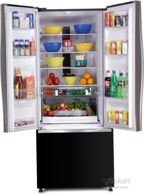 Hitachi 510 L Frost Free Side by Side Refrigerator (R-WB550PND2, Glass Black)