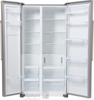 Panasonic 600 L Frost Free Side by Side Refrigerator (NR-BM601MS1N, Silver)
