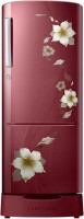 SAMSUNG 212 L Direct Cool Single Door Refrigerator (RR22K287ZR2, Star Flower Red)