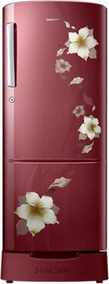 SAMSUNG 212 L Direct Cool Single Door Refrigerator (RR22K287ZR2, Star Flower Red)