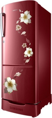 Samsung 230 L Direct Cool Single Door Refrigerator (RR23K282ZRZ, Tender Lilly Red)