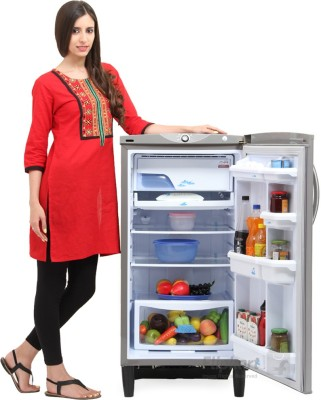 Godrej 185 L Direct Cool Single Door Refrigerator (RD EDGE 185 E3H 4.2, Silver Stone)