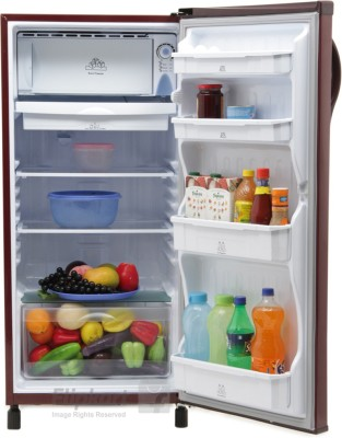 Electrolux 190 L Direct Cool Single Door Refrigerator (EB203ETBR, Burgundy Red)