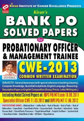 Buy Bank PO Solved Papers for Probationary Officer & Management Trainee CWE - 2013: Regionalbooks