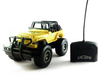 KBnBS Remote Control Rechargeable RC Urban Wrangler Jeep Car (High Torque Model) (Yellow)