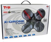 Emob X-Drone G-Shock Quadcopter Helicopter With Camera (Red, Black)