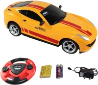 Fantasy India Red Remote Control Rechargeable Toy Car With Steering (Yellow)