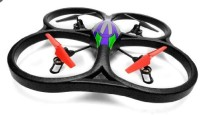 WLtoys Wlv262 Cyclone Ufo 4 Channel 6 Axis Gyro Quadcopter 2.4Ghz (Black)
