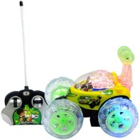 Lotus Rechargeable Remote Controlled Stunt Car With Led Lights(Red) (Red)