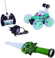 Shop & Shoppee Combo Of Ben 10 R/C Remote Controlled Stunt Car & Sword (Multicolor)