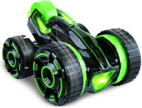 Toys Bhoomi Super-Fast Shock Absorbing 5-Wheeled 6CH 2-sided Extreme High Speed Tumbling RC Stunt Race Car With Bright Led Lights (Green)