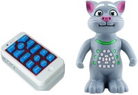 ToyTree Talking Tom With Wireless Remote Control And Recording (Mimics Voice, Sings, Dances, Maths Quiz, Moves) (Grey)