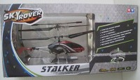 Auldel Toys Sky Rover Stalker Control 3Channel Gyro Helicopter Rc Usb (Black)