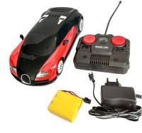 Zaprap Red&Black Plastic Rechargeable Remote Control Bugatti Car For Kids (multicolor)