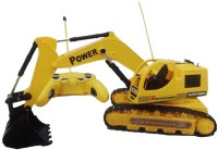 A R Enterprises Wire Remote Control Jcb Construction Loader Excavator Truck Toy For Boys (Yellow)
