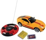 ECO SHOPEE Remote Control Toys ECO SHOPEE JACKMEAN YELLOW RECHARGABLE CAR WITH STEARING