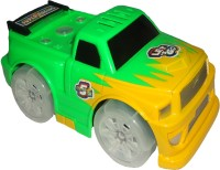 5 Famous Car Super Cartoon Toy Car With Automatically Change Direction & With Music & Light (Green)