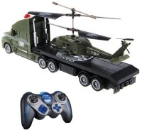 GM Enterprises Helicopter And Truck Combo Military Design (Multicolor)