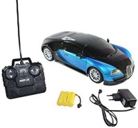 Littlegrin RC Bugatti Remote Control Car Scale Model 1:16 With Charger Gift Toy For Kids (Blue)