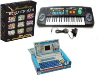 Dinoimpex Dino Jakmean, English Learner Laptop, Electronic Keyboard With Fm Radio And Toys Jewellery Boutique Combo (Multicolor)