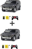 ECO SHOPEE COMBO OF REMOTE CONTROL 1:24 BLACK + BLACK HUMMER CAR TOY FOR KIDS (Black)