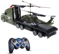 Fantasy India Combo Of Helicopter & Truck Toy (Multicolor)