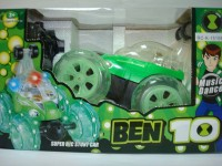 99DOTCOM Ben 10 Rc Stunt Car With Steering Wheel Function (MULTICOLOUR)