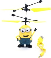 ANGELLA Flying Minion Sensor Helicopter (Green, Blue)