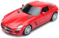 The Flyer's Bay Licenced RC Mercedes-Benz SLS AMG 1:24 Scale Full Function With Shock Absorber And LED Lights (Red) (Multicolor)