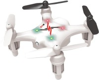 Toyhouse Smallest Drone Nano Palm Size Gyro 6-axis RC Quadcopter (White)