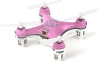 Building Mart World's Smallest RC Nano Quadcopter 4CH 2.4GHz 6-Axis Gyro LED (Purple)