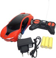 Grabby Rechargeable Remote Control Powerful Hot Racing Car (Red, Blue)