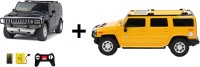 ECO SHOPEE REMOTE CONTROL 1:24 BLACK + YELLOW HUMMER CAR TOY FOR KIDS (Black)