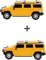 ECO SHOPEE COMBO OF REMOTE CONTROL 1:24 YELLOW + YELLOW HUMMER CAR TOY FOR KIDS (Yellow)