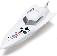 Adraxx High Speed RC Racing Torpedo Boat Toy Ship Electric For Kids (White)
