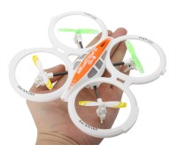 Basetronix 4ch 2.4ghz Rc Ufo Aircraft Drone Toy With 6-axis Gyro (Orange)