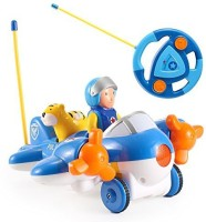 Liberty Imports Cartoon R/C Airplane Radio Control For Toddlers (Blue)