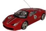 Adraxx Remote Control Toys AdraxX 1:18 Scale Sports RC Red Car Toy