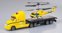 The Flyer'S Bay Combo Of Helicopter & Truck 2.0 (Yellow)