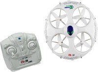 Toys Bhoomi 2.4Ghz 4 Channels 6Axis Gyro 3D Eversion With Headless Mode - UFO RC Quadcopter (White)