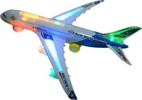 Zeemon AirBus Musical Lights Self Rotating Aeroplane Toy (White)