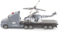 The Flyer's Bay Combo Of Helicopter & Truck(Grey) (Multicolor)