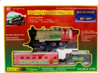 Rahul Toys Western Train Set For Kids To Play (Red)