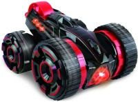 Toys Bhoomi Super-Fast Shock Absorbing 5-Wheeled 6CH 2-sided Extreme High Speed Tumbling RC Stunt Race Car With Bright Led Lights (Red)