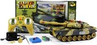 ELANTE Full Functional War Tank - 360 Degree Movement / Fire / Light / Sound (Multi Color)