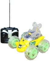A R Enterprises Yellow Ben 10 Rechargeable Remote Control Stunt Car (Yellow)