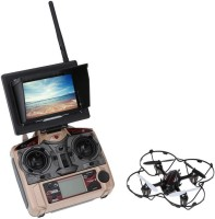 Toys Bhoomi 2.0mp Hd Camera Quadcopter Drone With 5.8g Transmission Fpv Monitor - 4ch 6-Axis Headless Mode (Multicolor)