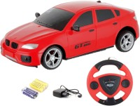 TOYBAZAAR Jackmean R-C Powerful Rechargeable Radio Control Toy With Steering [Red] (Red)