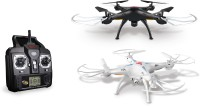 Venus-Planet Of Toys Syma X5SC Explorers 2 -2.4G 4 Channel 6-Axis Gyro RC Headless Quadcopter With HD Camera (White, Black)