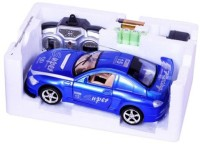Turban Toys King Driver Remote Control Car Opening Doors Toys With Rechargeable Batteries (Blue)
